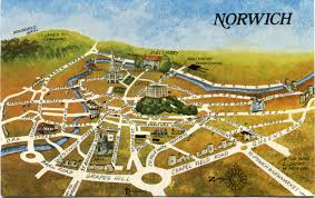 Map Of Medieval England by An Emotional Map Of Norwich U2013 So Outrageous