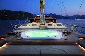 motor sailor mezcal 2 gulet mezcal 2 spa pool at night