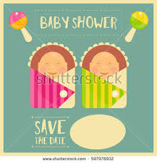 baby shower poster baby shower retro poster girl vector stock vector 217640116