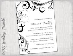 Marriage Invitation Sample 26 Black And White Wedding Invitation Templates Vizio Wedding
