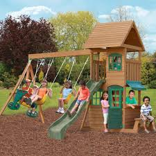 Playground Sets For Backyards by Amazon Com Big Backyard F23220 Windale Play Center Toys U0026 Games
