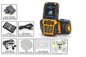 Rugged Cell Phones Jinhan A81 2 Inch Rugged Cell Phone Waterproof Dust Proof