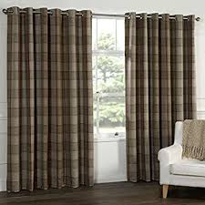 Wool Curtains Wool Touch Heavy Lined Tartan Tweed Plaid Curtains
