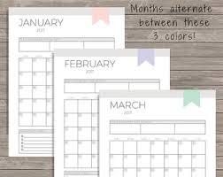 Small Easel Desk Calendar Mini Calendar 2017 Calendar Printable Desktop Calendar
