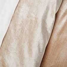 Pure Cotton Duvet Covers Washed Cotton Luster Velvet Duvet Cover Shams West Elm