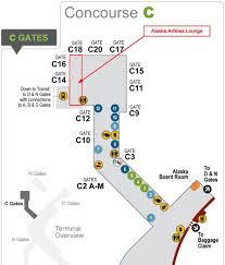 Lax Gate Map Lounge Review Alaska Airlines Lounge C Gates Seattle Tacoma Sea