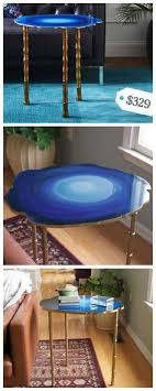 faux agate side table mark montano faux agate side tables crafts and diy ideas