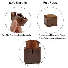 Furniture Grips For Wood Floors by Amazon Com Chair Leg Floor Protectors Warmhut 16pcs Brown
