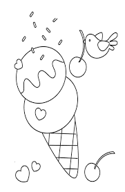 cute ice cream coloring pages foods coloring pages of