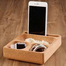 Small Desk Organizer by The Natural Cork Desk Organizer Keeps Your Small Gadgets In Place