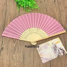 cheap wedding fans 100pcs lot free shipping cheap wedding favors bamboo fan with silk