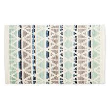 green and grey chindi rug