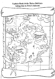 free coloring book pages including peter pan treasure