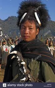 new year sash myanmar new year festival naga wearing headdress made from