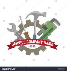 vector logo element repair company icon stock vector 370204586
