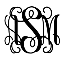 monogram decals vine monogram car decal sew personal online store powered by