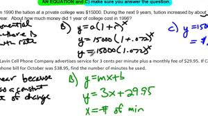 unit 10 lesson 7 no example 4 linear quadratic and exponential