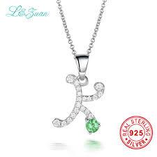 l zuan 2017 trendy letter pendant sterling silver jewelry 0 85ct