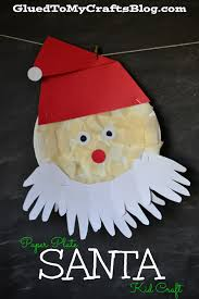 paper plate santa kid craft