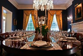 South Carolina Governors Mansions Navy Blue Dining Room Navy - Mansion dining room