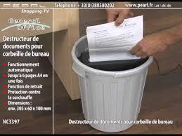 broyeur papier bureau destructeur de documents pour corbeille de bureau