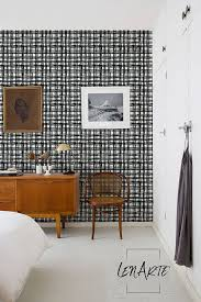 plaid wallpaper plaid pattern removable wallpaper black and