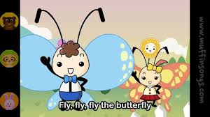 fly fly butterfly nursery rhymes children songs with lyrics