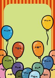 invitation card cartoon design vector handdrawn cartoon balloons fun birthday invitation card