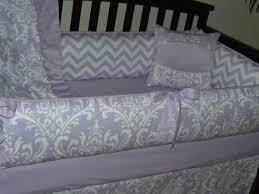 Lilac Damask Crib Bedding Baby Bedding Lilac Osborne Damask Chevron Custom Baby