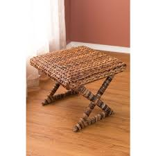 birdrock home seagrass brown rattan accent x stool free shipping