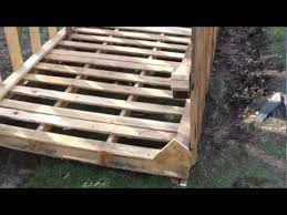 How To Build A Shed Out Of Wooden Pallets how to build free or cheap shed from pallets diy garage storage