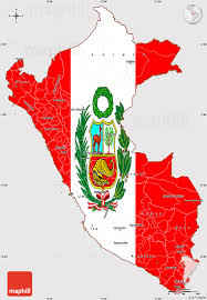 peru on map flag simple map of peru