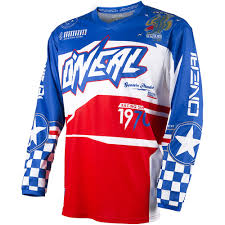 vintage motocross gear oneal 2017 new mx youth element afterburner red blue kids