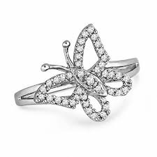 butterfly rings diamond images 0 20 ct t w diamond butterfly ring in sterling silver view all jpg
