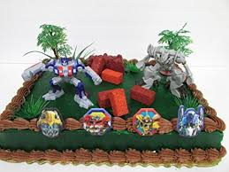 optimus prime cake topper transformers birthday cake topper set featuring optimus prime and