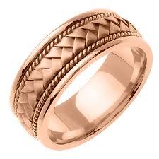 mens gold wedding bands mens 14k pink gold wedding band ring beverlydiamonds