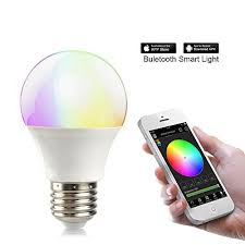 light bulbs controlled by iphone tanbaby bluetooth led bulb e27 rgbw 4 5w smart led light bulb timer