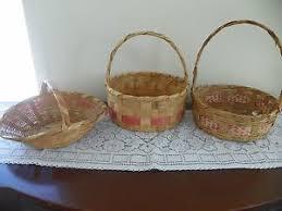 wicker easter baskets 3 vintage easter baskets 1950 s wicker easter basket egg gathering