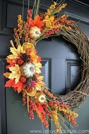 diy fall wreath fall themed tour wreaths craft and holidays