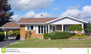 typical 70s bungalow house editorial image image 77993105