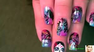 make it with me day of the dead halloween nails in acrylic nail