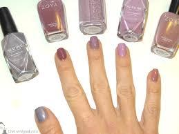 shades of purples mani monday compairing shades of purple nail polish the trendy nail