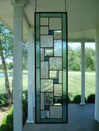 Glass Panel Room Divider Authentic Robert Sowers Stained Glass Modern Art Mural Room