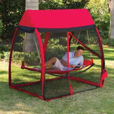 outdoor hammock base with standing hammock