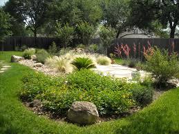 backyard landscape island of native plants surrounding a patio backyard landscape island of native plants surrounding a patio set in decomposed granite next to