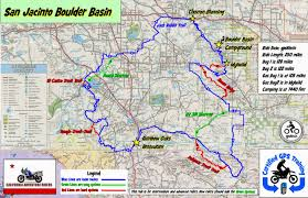 Map Of California Adventure San Jacinto Bolder Basin Camp Ride California Adventure Riders
