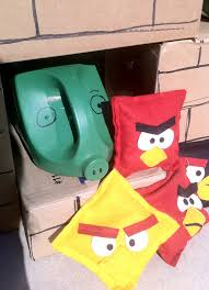 from the carriage house angry birds bean bag game