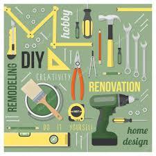 Diy Home Renovation by Diy And Home Renovation Tools Set U2014 Stock Vector Elenabs 104389234