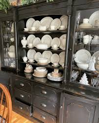how to arrange dishes in china cabinet decorating the china cabinet and hutch for winter