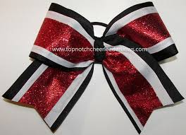 african american cheer hair bows glitter red black white big cheer bow red black cheerleader bow